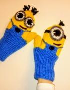 Rękawiczki minionki z polarem nowe