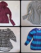 OVERSIZE luźne bluzki sweterki 4 sztuki stan bdb cena za całość L