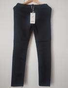 Czarna spodnie rurki dzins rozmiar 40