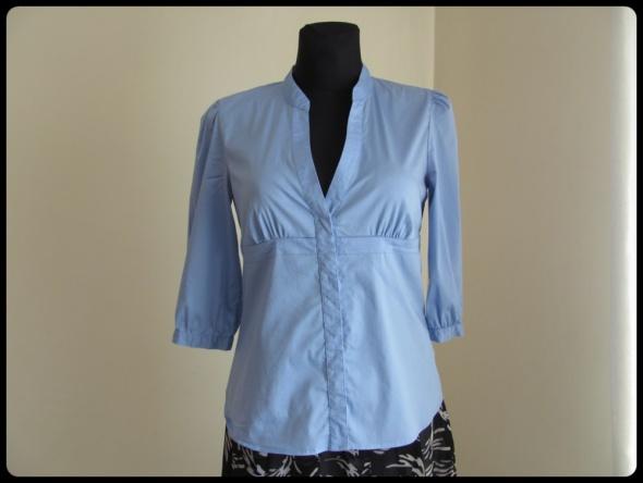 Koszule Koszula taliowana H&M błękitna elastyczna 40 L