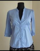 Koszula taliowana H&M błękitna elastyczna 40 L