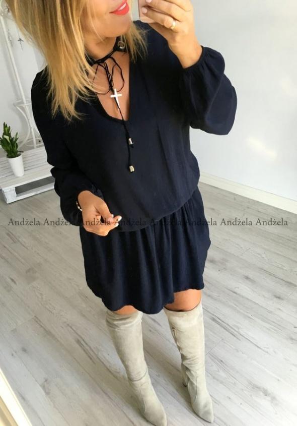 Sukienka CHOKER GRANATOWA