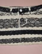 Spódniczka jeansowa biało czarna...