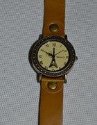Zegarek WoMaGe wieża Aifla skórzany pasek