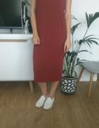 brązowa miedziana sukienka na lato h&m m