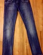 Spodnie skinny z suwakami niebieskie S JEANS