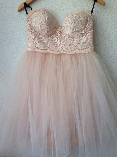 Sukienka Little Mistress róż koronka 38...