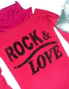 Rock love świetny różowy golfik