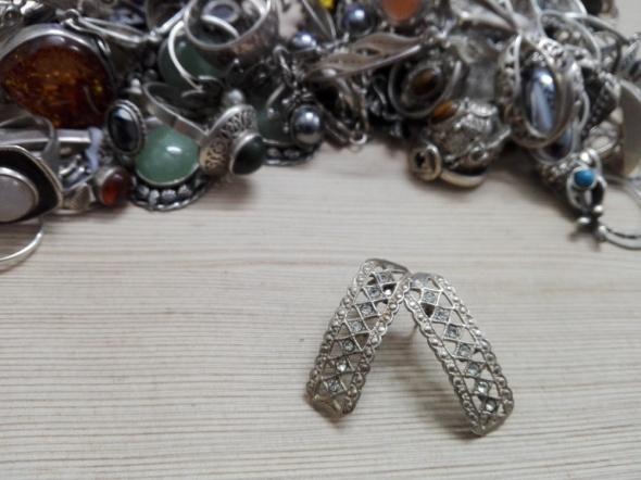 8eb0c9c2108dc8 srebrne kolczyki z cyrkoniami ażurowe w Kolczyki - Szafa.pl