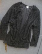 Narzutka H&M czarna kieszonki kardigan