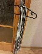 biało czarna apaszka w paski zebra uniwersalny