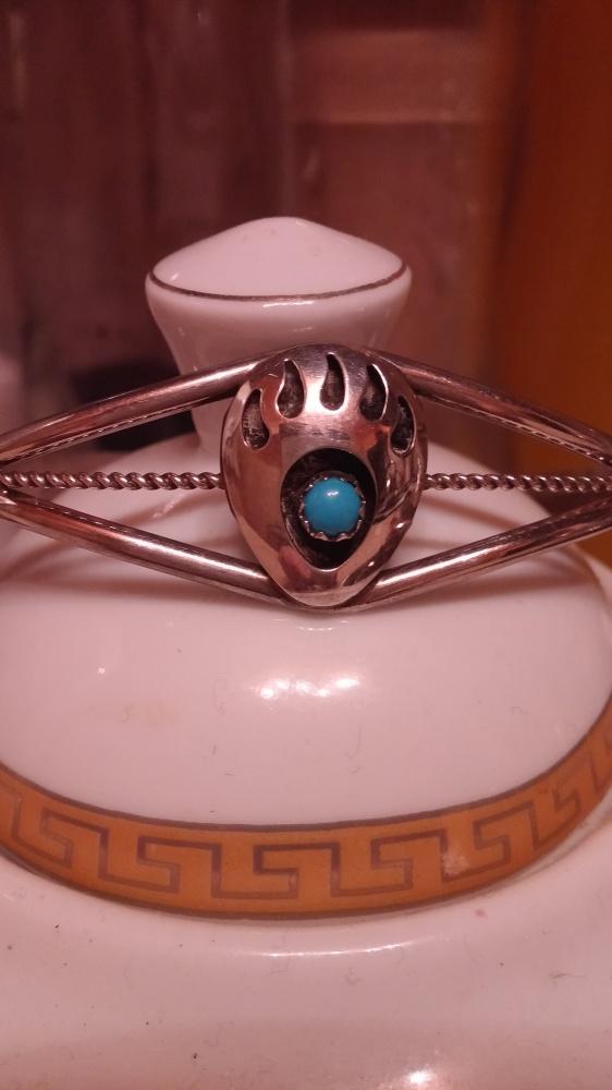 Srebrna bransoletka z turkusem