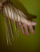 bransoletka boho hippie z łańcuszkami i rzemykiem