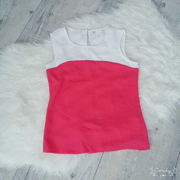 Biało różowa bluzeczka