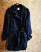 Granatowy płaszcz Cameiu...