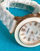 Zegarek Ceramiczny na Bransolecie Biały