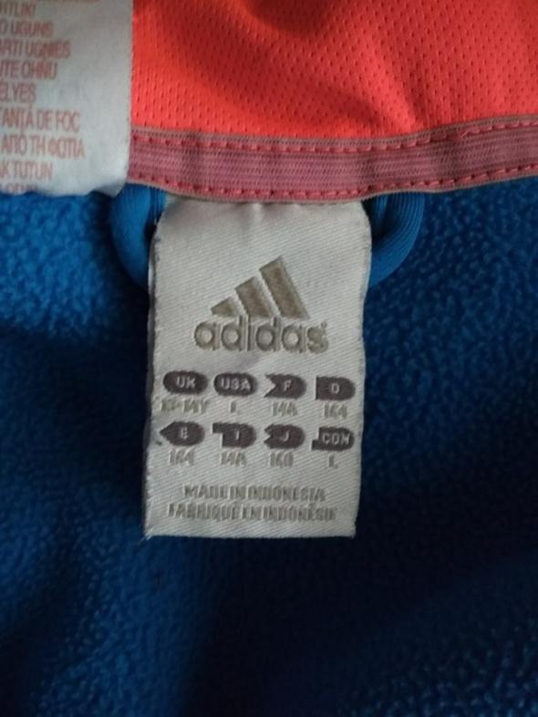 adidas bluza niebieska pomarańczowa 164 14 lat z kapturem...