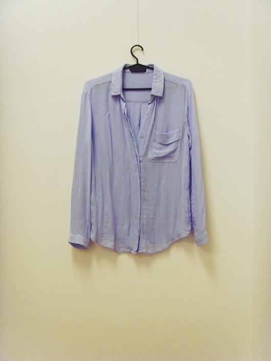 Mango koszula bluzka wiskoza błękit 34 XS...