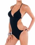 Kani nowy kostium kąpielowy monokini czarny złote