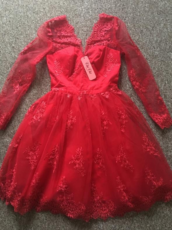Suknie i sukienki rozkloszowana sukienka chi chi london