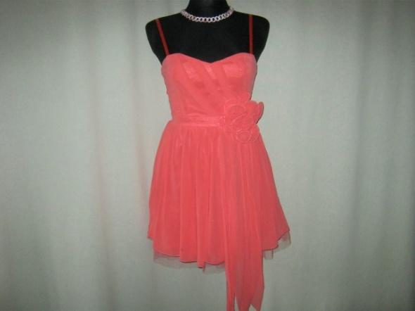 koralowa sukienka Lipsy 36...