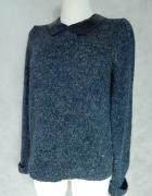 Atmosphere Sweter z KOŁNIERZYKIEM cekiny 40 L