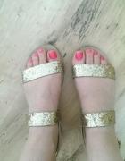 złote sandałki zuzyte 38