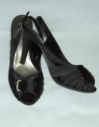 sandały platformy czarne 38