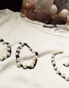T shirt z koralikami na krótki rękaw...