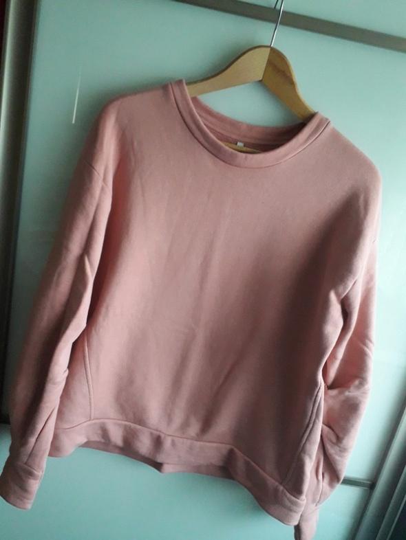 Różowa bluza oversize pudrowy róż marszczone rękawy blogerska bluza