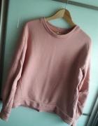 Różowa bluza oversize pudrowy róż marszczone rękawy blogerska b...