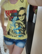 Żółty tshirt bluzeczka rozm S