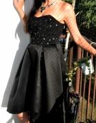 nowa elegancka sukienka z gwiazdkami