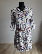 Unikatowa sukienka koszulowa rozmiar 42 xl