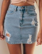 Spódniczka jeansowa dziury
