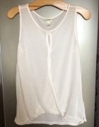 HM beżowa bluzka mgiełka conscious nude kremowa