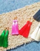 Długie Kolczyki chwosty frędzle 7 kolorów...