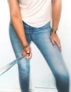 3 RZECZ GRATIS tregginsy jeansy jasne biodrówki rurki New Yorke...