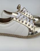 sportowe obuwie biało złote VICES rozm 38