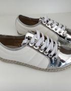 sportowe obuwie biało srebrne VICES rozm 38