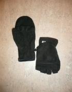 czarne rękawiczki polar