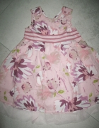 NEXT różowa sukienka w kwiaty roz 86
