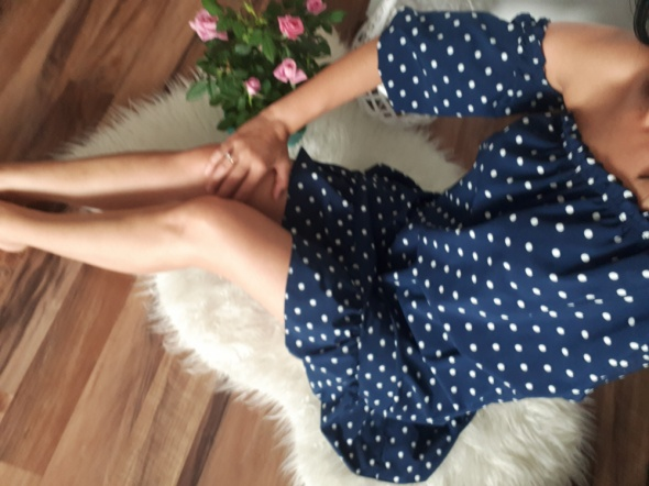 Sukienka grochy cudowna boho hiszpanka s