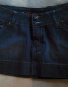 Mini spódniczka jeansowa bombka