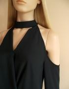 Bluzka z chokerem i odkrytymi ramionami New Look