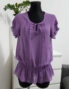 fioletowa bluzka mgiełka Dunnes Stores