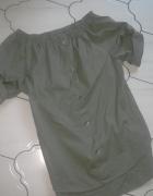 Bluzeczka asymetryczna hiszpanka khaki