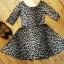 Sukienka rozkloszowana panterka XS 34...