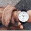 Klasyczny zegarek Geneva skórzany pasek czarny...