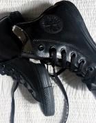 Czarne wysokie converse 38